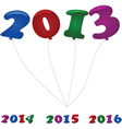 New year balloons vector