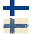 Finland grunge flag vector