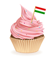 Hungarian cupcake vector
