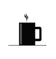 Coffee cup hot black vector