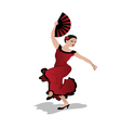 Young woman dancing flamenco vector