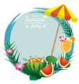 Watermelon and cocktail frame vector