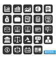 Finance and business icon set in black color vector