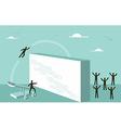 Teamwork motivation business strategy for success vector