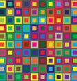 Colors squares seamless abstract pattern vector