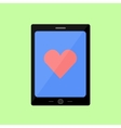 Flat style touch pad with red heart vector