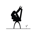 Girl on the chair silhouette vector