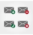 Envelopes web icons vector