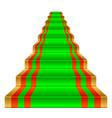 Gold ladder vector