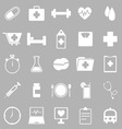 Health icons on gray background vector