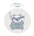 Panda ninja vector