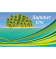 Summer holiday card with beautiful sunny beach vector