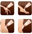 Icons of beauty treatments vector