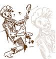 Punk rock guitarist hand draw vector