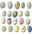 Vintage easter egg design set vector