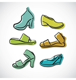 Womans shoes sketch vector