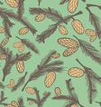 Fir pine cone seamless pattern vector