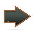 Blackboard in the shape of arrow vector