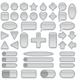 Silver glass buttons set vector