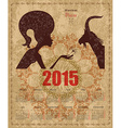 Calendar for 2015 year with a goat and zodiac sign vector
