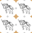 Seamless pattern background of white elephant vector