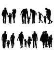 Families in walking vector