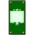 Greeting card green vector