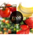 Set of realistic food backgrounds with tomatoes vector