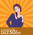 Model girl on sale poster vector