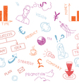 Business colorful doodles vector