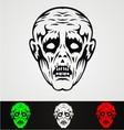 Zombie face vector