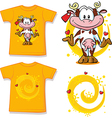 Kid shirt with cute cow printed - isolated on vector