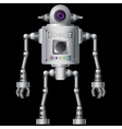 Little robot electronic computer device vector