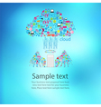 Template design phone angel wings social vector