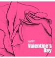 Valentines day design with rose vector