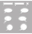 Speech bubbles round and square vector