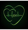 Hearts black vector