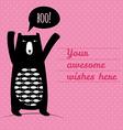 Concept card with cute bear vector