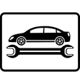 Auto service icon with car and wrench vector