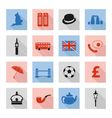 England flat icons vector