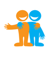 Symbol of friendship vector