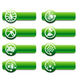 Keep earth green banners vector