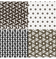 Set pattern - geometric simple modern texture with vector