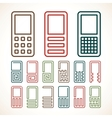 Cell phone abstract icons vector