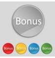 Bonus sign icon special offer label set of colored vector