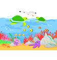 Marine life underwater vector