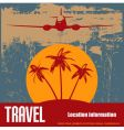 Tropical beach travel vector