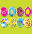 Easter eggs pop vector