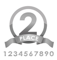 Award badge silver vector