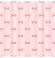 Seamless pattern bows on pink strips background vector